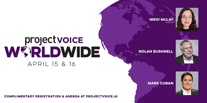 Wanderword set to speak in the #1 slot of the Project Voice Worldwide Event